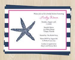 nautical bridal shower invitations nautical wedding shower invitations free shipping starfish