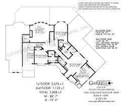 luxery house plans the ashland manor 3808 house plans by garrell associates inc