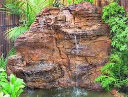 large garden vertical rock waterfalls artificial backyard water