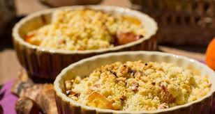 apple pear crumble and pear crumble