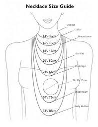 jewelry necklace lengths images Necklace measurements ann summers jewelry jpg