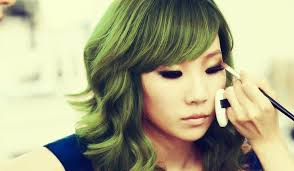 hair cl cl green hair edit by kpopcolor on deviantart