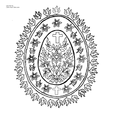 detailed easter egg coloring pages many interesting cliparts