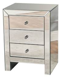 3 drawer accent table lucille mirror finished 3 drawer accent table contemporary