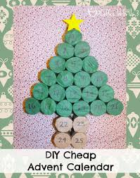 diy cheap advent calendar made from toilet paper rolls and tissue