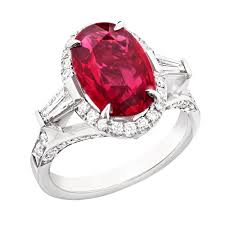 ruby diamond ring oval ruby engagement ring fabergé the jewellery editor