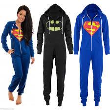 Superman Halloween Costumes Adults Men Women Unisex Hooded Zip Jumpsuit Coverall Batman Superman