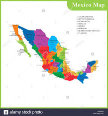 regions of mexico map the detailed map of the mexico with regions or states and cities