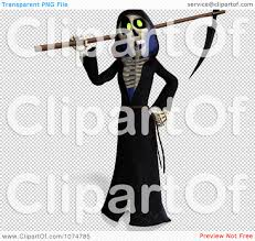 free halloween clip art transparent background clipart 3d halloween grim reaper and scythe 2 royalty free cgi
