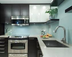Glass Tile For Kitchen Backsplash Ideas by Kitchen Sky Blue Glass Subway Tile Kitchen Backsplash With Dark