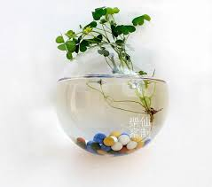 Indoor Home Decor Wall Fishbowl Air Plants Indoor Wall Decor Glass Planter Vase For