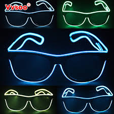 party sunglasses with lights vvsoo flashing el wire led glasses ce certified glowing party