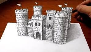 drawing a castle u2013 3d art optical illusion u2013 mindbenders
