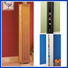 tall wood storage cabinet