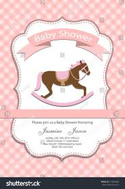 Baby Shower Invitation Cards Baby Baby Shower Invitation Card Stock Vector 214890628