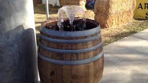 Wine Barrel Home Decor Wine Barrel Fountain Great Home Decor Simple But Pretty Barrel