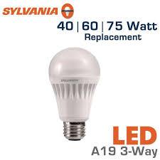 led 3 way bulb 40 60 75 watt equal sylvania led13a19 3way 75164