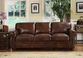 Rustic Leather Sofa by Rustic Dim Brown Leather Sofas Fantastic Expense For Warm And