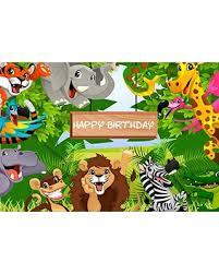 safari cartoon memorial day s hottest sales on ofila happy birthday backdrop 7x5ft