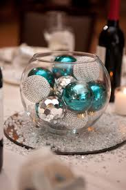 glass bowl with ornaments centerpiece my wedding pinterest