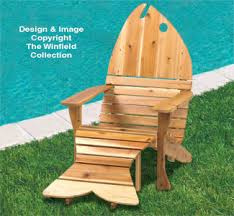 Free Adirondack Deck Chair Plans by Adirondack Fish Chair Ottoman Plans This Fish Shaped Adirondack
