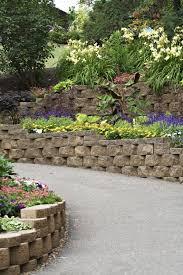 retaining wall ideas retaining wall blocks design garden stone