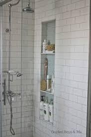 bathroom shower niche ideas shower niches blue brown and subway tile steam showers
