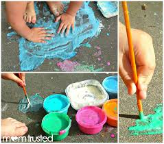 homemade sidewalk paintpreschool activities and printables