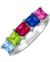 mothers ring with birthstones shopping sales on jared family and s ring 1 5 square