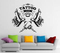 tattoo shop logo wall decal vinyl sticker tattoo salon window tattoo shop logo wall decal vinyl sticker tattoo salon window sticker wall decor 1t01s amazon com