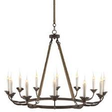 Candle Lit Chandelier Athena Country Quatrefoil Rusted Iron Chandelier