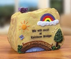 pet memorial message rock rainbow bridge banberry designs http
