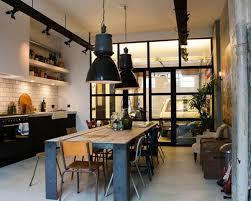 cuisine de loft la suspension industrielle un élément loft déco fantastique