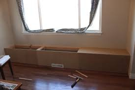 bench build a wooden storage bench how to build banquette