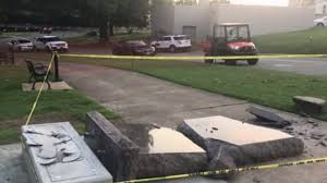 Driver Topples Brand New Ten Commandments Monument U2014 Apparently