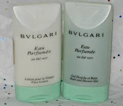 bulgari au the vert green tea shoo shower gel and lotion
