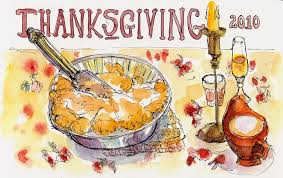 thanksgiving sketch bouc artist
