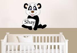 stickers panda chambre bébé stickers nounours chambre bébé panda personnalisé avec prénom