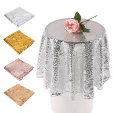Oblong Table Cloth Online Get Cheap Silver Sequin Tablecloth Aliexpress Com