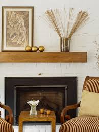 photos hgtv warm and traditional fireplace with brick wall