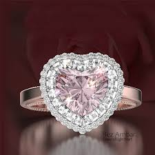 heart rings diamond images Pink diamond heart shaped rings with blaze jpg