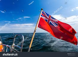 British Flag With Red Uk Red Ensign British Maritime Flag Stock Photo 606165347