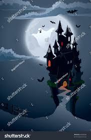 halloween scary castle perfect illustration halloween stock vector