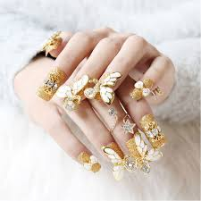 compare prices on gold false nails online shopping buy low price
