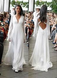 hippie boho wedding dresses sleeves backless hippie wedding dresses 2015 a line v neck