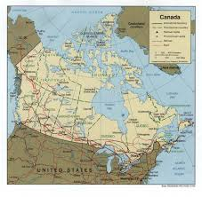 Eastern Canada Map by