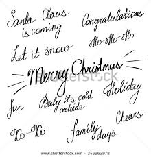 handwriting lettering happy new year merry stock vector 346262978
