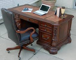 Teak Computer Desk Furniture Polished Walnut Wood Office Computer Table With