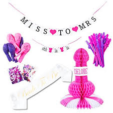 Bachelorette Party Decorations Amazon Com Bachelorette Party Supplies Decorations Pack U2013 Miss To