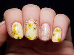 sweet and simple buttery floral chalkboard nails nail art blog